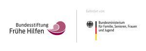 Logo Bundesstiftung Frühe Hilfen und BMFSFJ